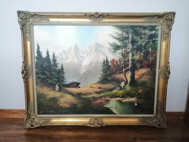 Stylowy obraz w drewnianej ramie