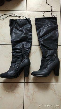 Buty damskie zimowe skóra