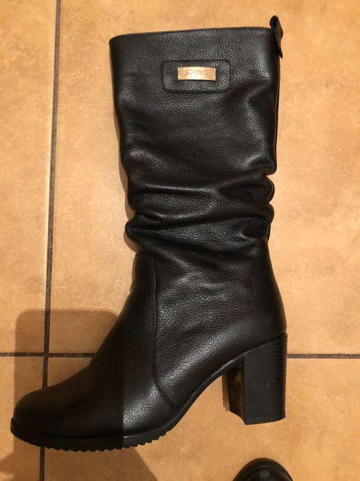 Продам кожаные женские сапоги Большая Чернетчина - изображение 1