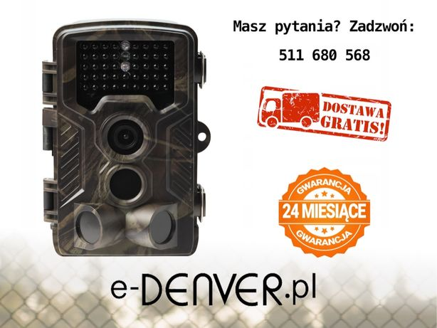 Fotopułapka SIM GSM SMS MMS Denver WCM-8010 KAMERA LEŚNA 42xIR FullHD