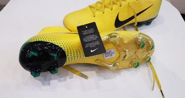 Korki Nike R42 Żółte, Mercurial FG na trawę naturalną, zjawiskowe