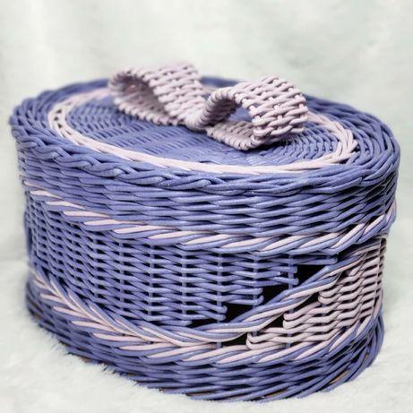 Шкатулка, плетеная коробка