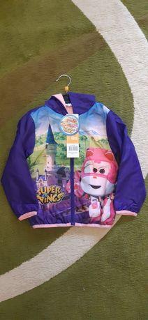 """Курточка, ветровка на флисе """" Супер крылья"""" Disney, 98-104 р."""