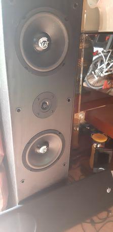 Aparelhagem de som amplificador Sony e colunas