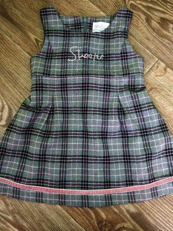 Платье -сарафан теплое на 2-3 года.Идеальный вариант для детского сада