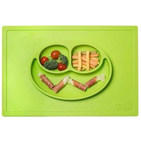 Силиконовая тарелка коврик EZPZ Happy mat Lime