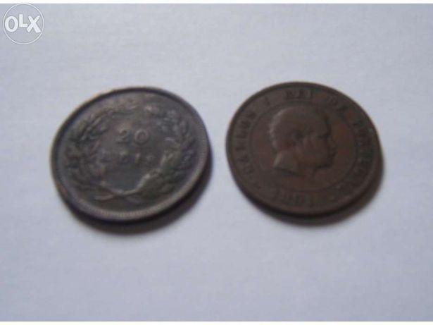 Moeda de 20 Reis 1891 e 1892