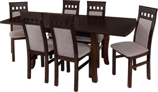 Komplet pokojowy rozkładany stół rozkładany +krzesło pokojowe drewnian