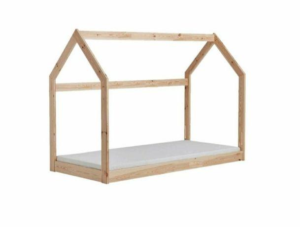 Łóżko domek. Łóżko dziecięce. Styl skandynawski 160x80