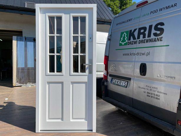 Drzwi zewnętrzne drewniane  SZPROS DOSTĘPNE OD RĘKI CAŁA POLSKA