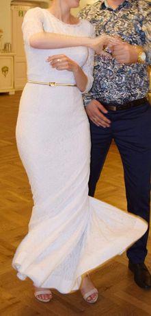 Sukienka biała z poprawin