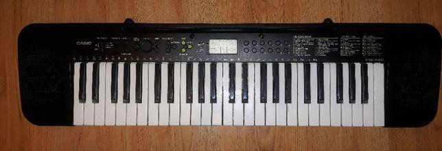 Casio CTK 240 keyboard pianino duża klawiatura + zasilacz i futerał