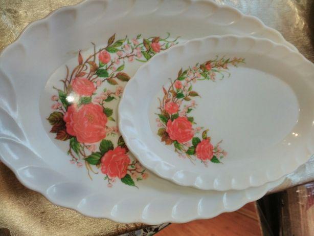 Красивый пластиковый набор 3 блюда + половник Турция