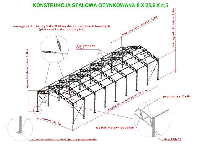PROMOCJA 8x26!!! Konstrukcja ocynkowana Hala wiata magazyn garaż