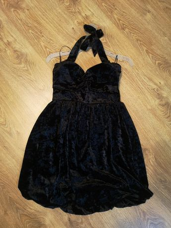Бархатное вечернее платье 36 размера