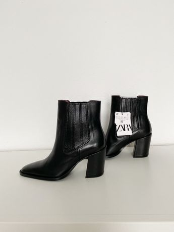 Ботинки Zara натур. кожа размер 36 ботильоны сапоги