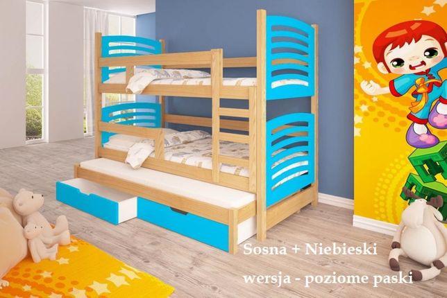 Bardzo praktyczne łóżko piętrowe OLUŚ dla 3 osób. Dostawa GRATIS !