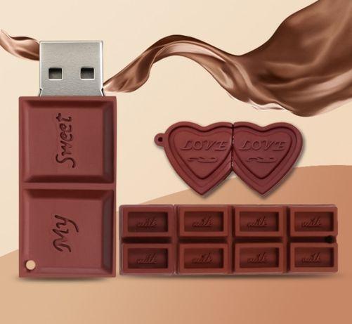 Флешка ЮСБ 32 ГБ шоколад флеш-накопитель USB 32 GB подарок