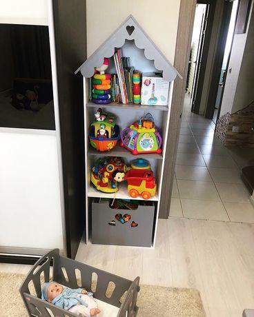 Кукольный домик-стеллаж Детский стеллаж Домик для кукол ЛОЛ Барби