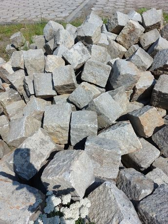 Kostka granitowa granit duża na drogę obrzeże Kamień starobruk