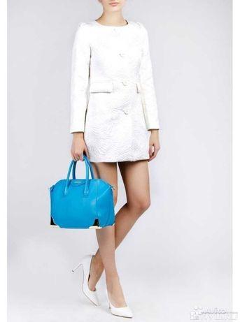 Шикарное Белое пальто love Republic оригинал плащ Пальтишко куртка М