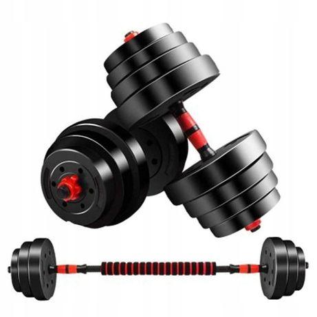 ZESTAW HANTLI Obciążenie 40kg Do Treningu W Domu