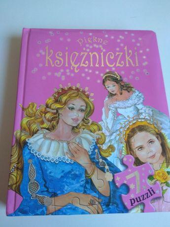 Książeczka z puzzlami z serii Piękne księżniczki