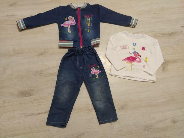 Джинсовый костюм (реглан, штаны, куртка)