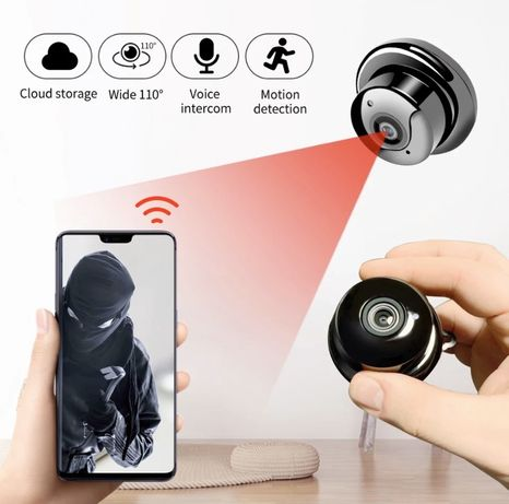 Домашняя видеоняня ip camera беспроводная мини WiFi от PowerBank заряд