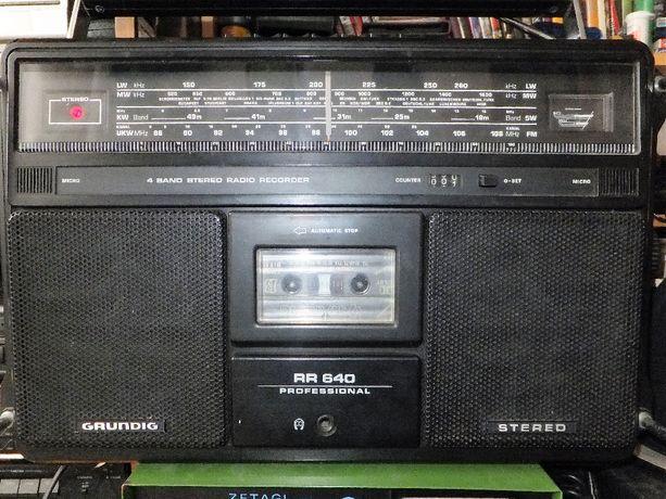 Radiomagnetofon GRUNDIG pr640 profesional.