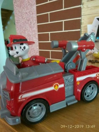 Щенячий патруль Маршал пожарник пожежник Paw Patrol на пожарной машине