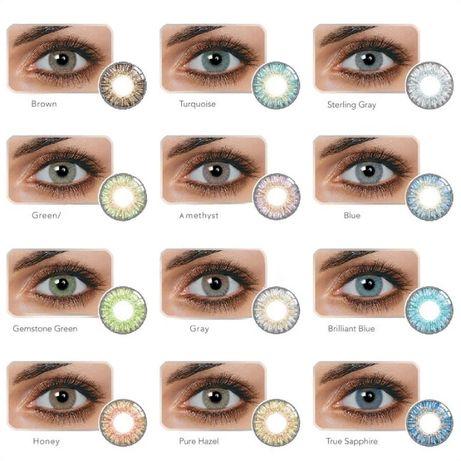 Цветные линзы для глаз натуральные,кукольные,косплей