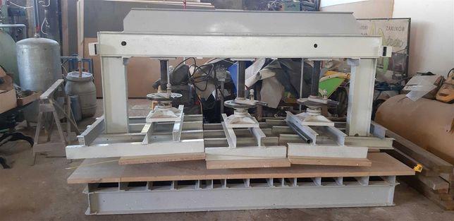 Prasa stolarska, śrubowa, manualna, pólkowa, do forniru, okleinowania