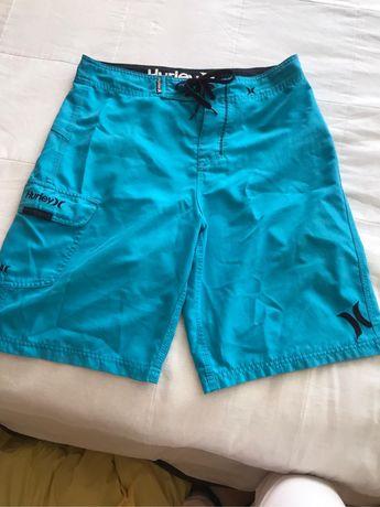 Calçoes Hurley azuis originais