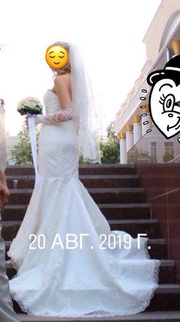 Свадебное платье по цене проката Франция