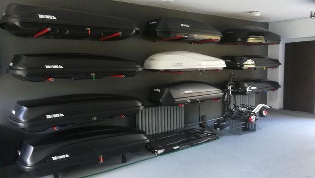 Bagażniki boxy samochodowe WYNAJEM boksy box dachowy wypożyczalnia