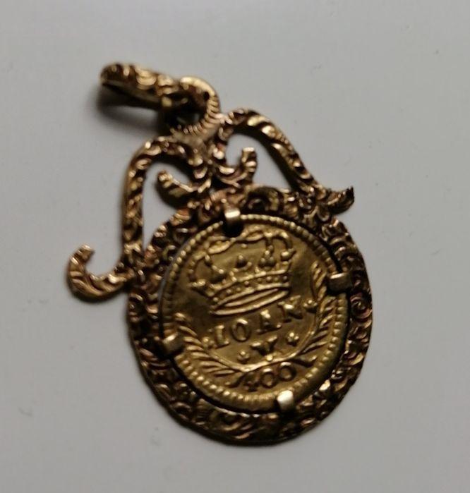 Moeda ouro (Pinto) de 4oo reis Belmonte E Colmeal Da Torre - imagem 1