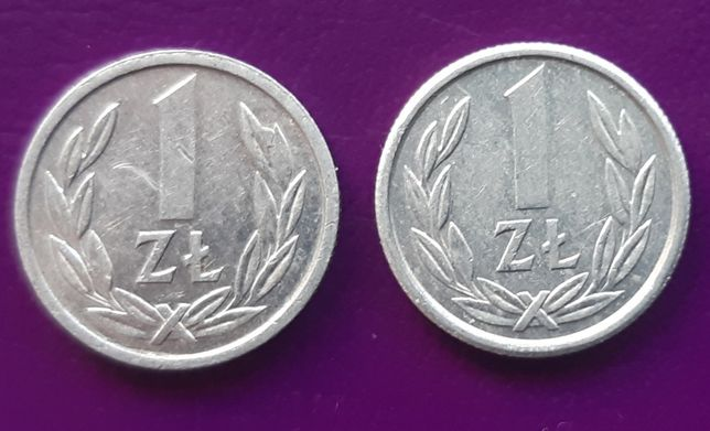 Moneta/Monety PRL 1 ZŁOTY 1989/1990 - Piękne 2 szt. - Okazja!!!