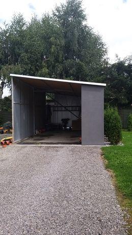 Wiata stalowa garażowa