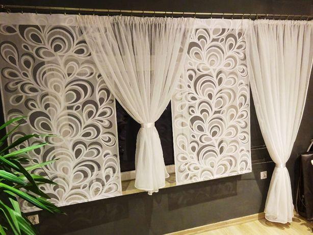 firana balkonowa panele pawie oczka 80 cm