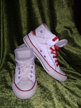 Кожаные кеды, хайтопы Converse, Конверс оригинал, размер 36,5, 23 см