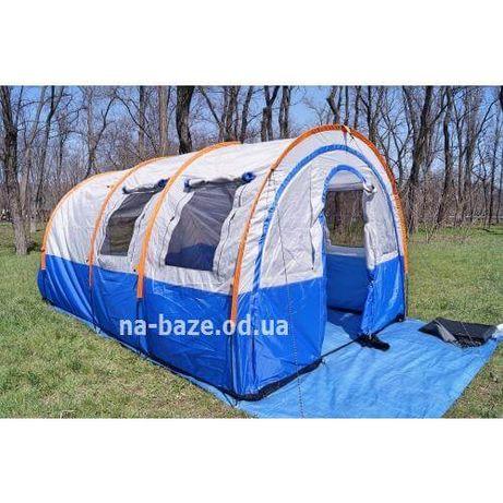 Палатка 4 х местная Высока с тамбуром Высота 2 м. вода 3000 Lanyu 1801