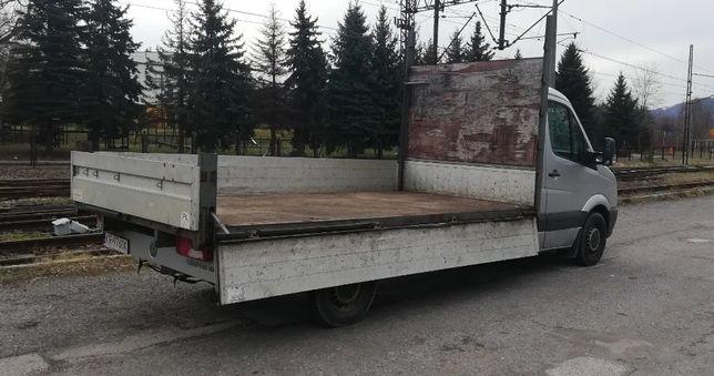 skrzynia ładunkowa paka z burtami alu plandeka WV Crafter 2006r
