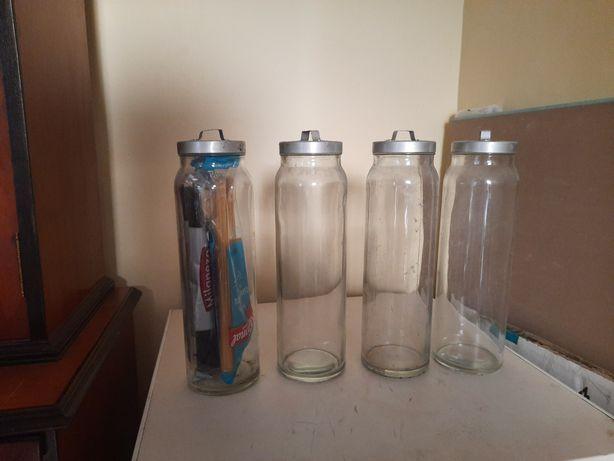 4 Frascos em vidro