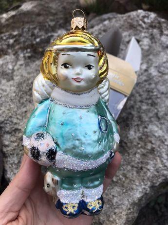 Авторская игрушка на елку ангел от IRENA, подарок на Новый год