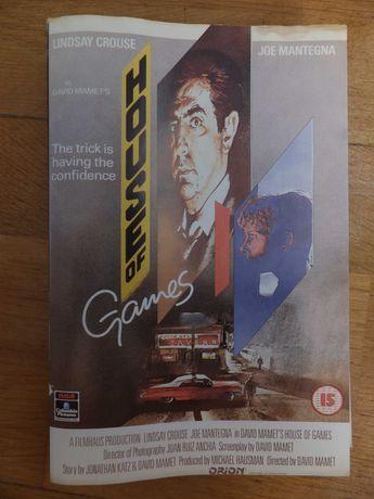 Okładka kasety VHS filmu ''House Of Games'' 1987 retro