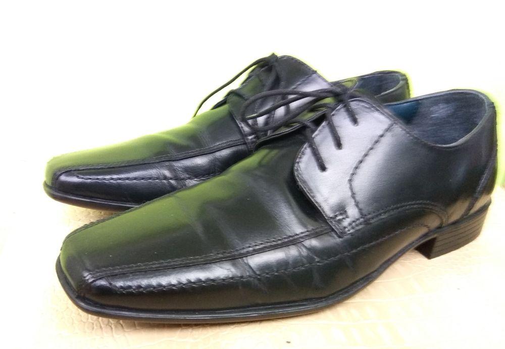 Туфли мужские, возможно на подростка, чёрные Кропивницкий - изображение 1