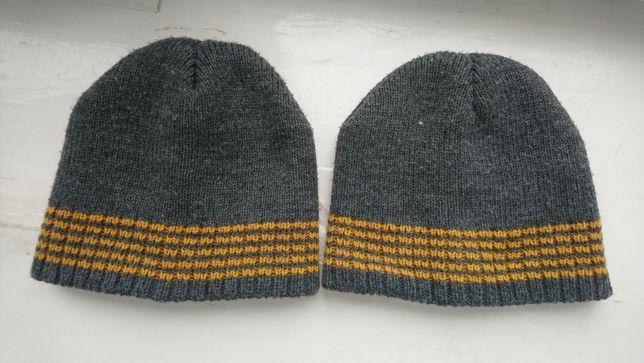 Шапочки теплі подвійні для двійнят близнецов 12-18 місяців