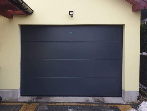 Brama garażowa ocieplana ANTRACYT 2500x2500 panel 4cm.