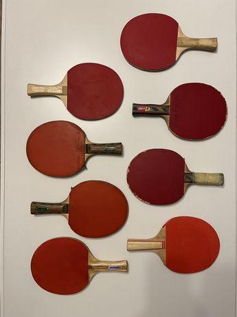 Rakietki do ping ponga zestaw 8 sztuk